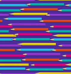 Seamless pattern with color pencils vector image
