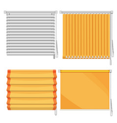 set of horizontal and vertical window blinds vector image
