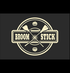 stamp with broomstikc text vector image vector image