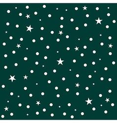 Star Polka Dot Dark Green Background vector image