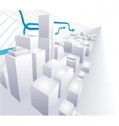 3d city conceptual abstract background vector