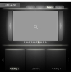 Black and White Site Template for Image Gallery vector image vector image