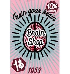 Brain shop banner vector image