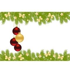 christmas pine frame 1409 02 vector image vector image