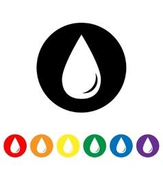 Drop icon vector