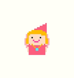 Pixel Princess vector image