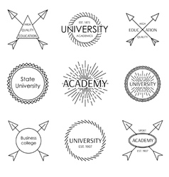 Set of emblem vector image vector image