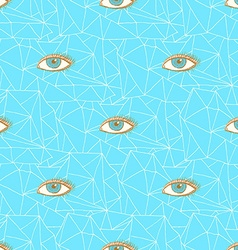 Sketch triangles and eye in vintage style vector image vector image