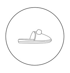 Slippers icon in outline style isolated on white vector