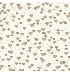 Small brown beige hearts seamless pattern vector image vector image