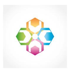 Teamwork collaboration people logo vector image vector image