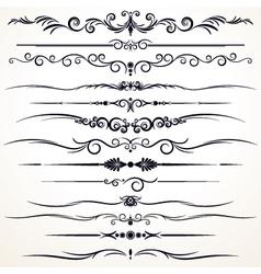 vintage rule lines vector image