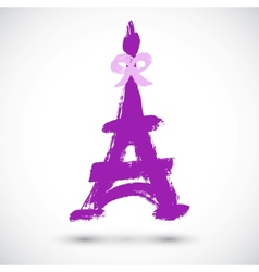 Abstract grunge Eiffel Tower symbol vector image vector image