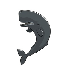 Cachalot sperm whale isolated icon vector image vector image