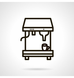 Coffee making icon simple line style vector image vector image