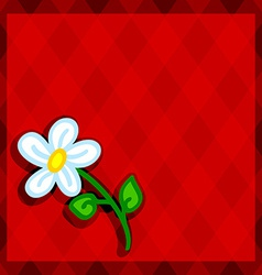 Red diamonds and daisy vector image vector image