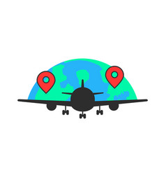 black airplane like global airlines vector image