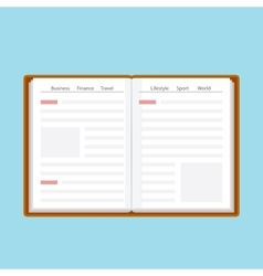 Book or journal in flat style vector image vector image