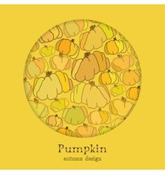 Golden autumn background with circle design vector image