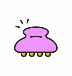 hairpin icon vector image vector image