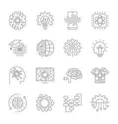 Modern flat editable line icons of future vector