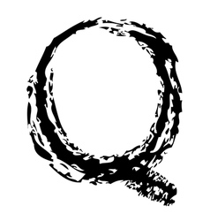 Q Brushed vector image