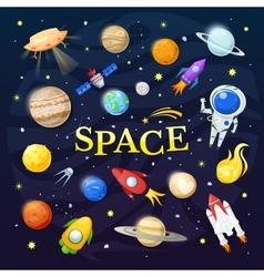 Space vector image vector image