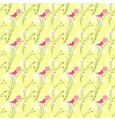 Springtime Colorful Cosmos Flower Seamless Pattern vector image