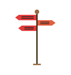 street signpost isolated vector image vector image