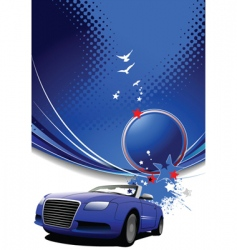 vehicle template background vector image vector image