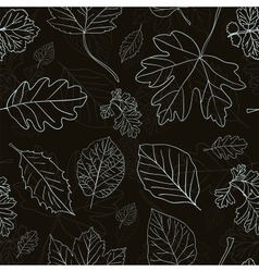 Vintage background with tree leaves silhouettes vector image vector image