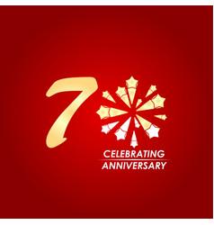 70 year celebrating anniversary template design vector