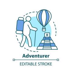 Adventurer concept icon adventurous lifestyle vector