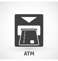 Atm card slot icon vector image