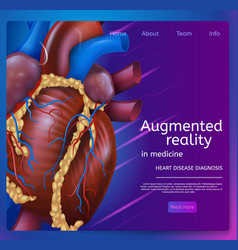 augmented reality in medicine vector image