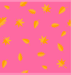 Autumn leaves yellow orange leaf set oak maple vector
