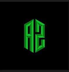 Az initial gaming esport logo design modern vector