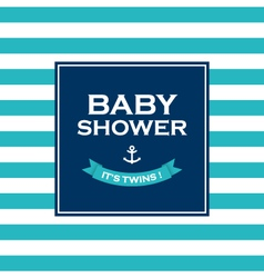 baby shower twins vector image