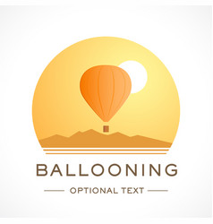 Ballooning logo and text for designs vector