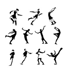 big set of art different pose men and women people vector image