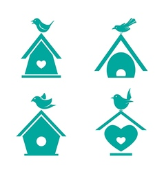Bird houses vector