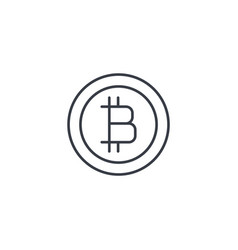 bitcoin currency digital payment coin internet vector image