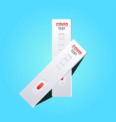 Blood sample on rapid diagnostic test cassette vector