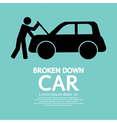 Broken Down Car vector