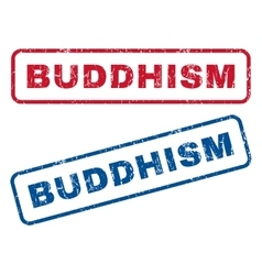 Buddhism rubber stamps vector