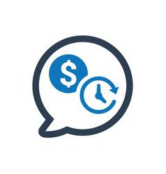 Budget adviser icon vector