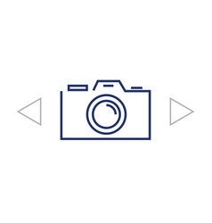 camera icon flat design style vector image