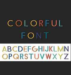colorful funny font english alphabet vector image