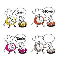 Cooking clock set vector