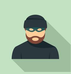 Criminal man icon flat style vector